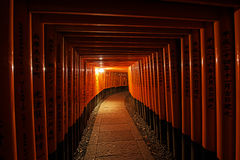 Torii gates in Fushimi Inari Shrine Stock Image