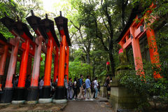 Torii gates at Fushimi Inari-Taish shrine Stock Photos