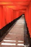 Torii gates of Fushimi Inari Shrine in Kyoto, Japan Royalty Free Stock Photos