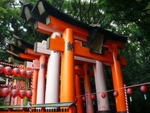 Torii Gates in Kyoto Japan Stock Photography