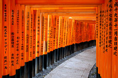 Torii gates of Fushimi Inari Shrine in Kyoto, Japan Stock Photography