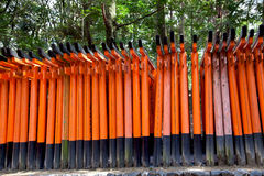 Torii gates of Fushimi Inari Shrine in Kyoto, Japan. Tori Gates at the Fushimi Inari Shrine in Kyoto, Japan Royalty Free Stock Photos
