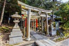 Torii at Gosha Jojukyo in Kyoto Stock Image
