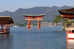 Torii at high tide Royalty Free Stock Images