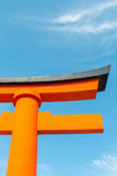 Torii or holy red gate Royalty Free Stock Photo