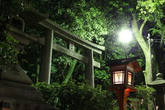Torii i en relikskrin i Kyoto, Japan Royaltyfria Foton