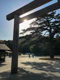 Torii in Ise Jingu Royalty Free Stock Photography