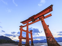 Torii at Itsukushima Shrine Stock Photos