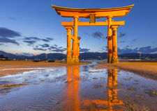 Torii at Itsukushima Shrine Royalty Free Stock Photos