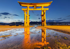Torii at Itsukushima Shrine Stock Images