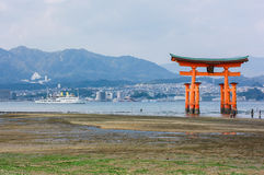 Torii in Japan. Royalty Free Stock Photo