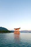torii miyajima Στοκ Εικόνες