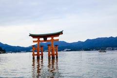 Torii miyajima island Stock Photos