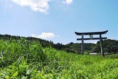Torii och grässlätt Arkivbild