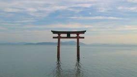 Torii port, Lake Biwa stock video
