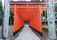 Torii rouge au Japon Photo libre de droits