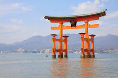 Torii with seascape Stock Photos