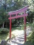 Torii traditional Japanese gate Stock Photos