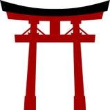 Torii tradizionale del portone del Giappone Immagini Stock Libere da Diritti