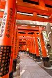 Torii tunnal at Fushimi Inari Taisha shrine Royalty Free Stock Photo