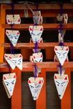 Torii vermelho em japão fotografia de stock