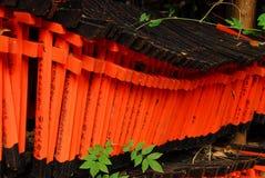 Torii vermelho pequeno Fotografia de Stock