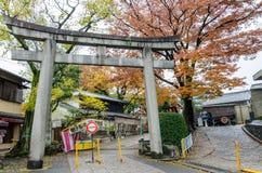 Toriipoort bij Fushimi-inari-Taishaheiligdom in Kyoto, Japan Stock Afbeeldingen