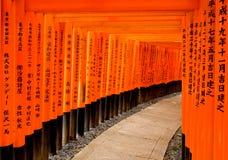 Toriipoorten in Kyoto Royalty-vrije Stock Fotografie
