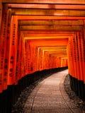 Toriitunnel van Fushimi Inari stock fotografie