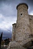 Torija´s Castle in Spain , defense tower Royalty Free Stock Image