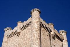 Torija Castle. Beautiful Torija Castle on the La Mancha region in Spain stock photography