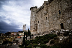 Torija´s Castle in Spain , defense tower Royalty Free Stock Photos