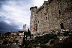 Torija´s Castle in Spain , defense tower Royalty Free Stock Photos