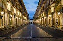 Torino através de Roma Fotografia de Stock