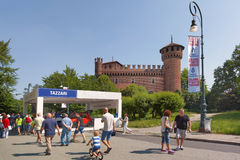 Torino-Automobilausstellung - dritte Ausgabe 2017 Stockbilder