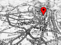 Torino city over a road map ITALY Stock Images