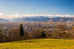 Torino da sopra, prospettiva diversa Immagini Stock