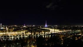 Torino entro Night fotografia stock libera da diritti