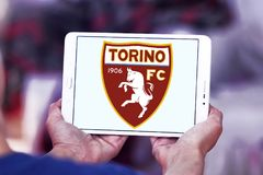 Torino F C Logotipo do clube do futebol Fotos de Stock Royalty Free