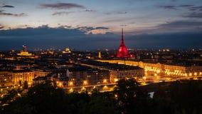 Torino gialla e rosso royalty free stock photos