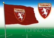 TORINO, ITALIA, AÑO 2017 - campeonato del fútbol de Serie A, bandera 2017 del equipo de Torino
