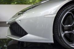 TORINO, ITALIA - 9 giugno 2016  Lamborghini Huracan_Spider su esposizione alla manifestazione di automobile dell'aria aperta d Fotografie Stock Libere da Diritti