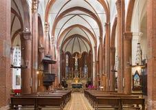 TORINO, ITALIA - 14 MARZO 2017: La navata della chiesa Chiesa di San Domenico Fotografia Stock