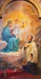 """TORINO, ITALIA - 16 MARZO 2017: La pittura di Madonna di Signora del SS di """"Nostra dell'eucaristia  di Sacramento†Immagini Stock"""