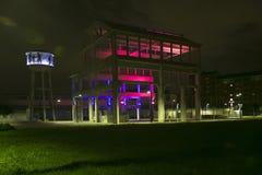 Torino - Italy - ex factory OGM FIAT. By night stock photos