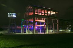 Torino - Italy - ex factory OGM FIAT. By night royalty free stock photography