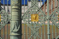 Torino, Italy. Royal palace railings detail Royalty Free Stock Photos