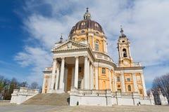 Torino - la chiesa Basilica di Superga fotografia stock