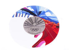Torino 2006 Olympic Games Participation medal, reverse. Kouvola, Finland 06.09.2016. Royalty Free Stock Images