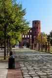Torino, Palatina Gate fotografie stock libere da diritti